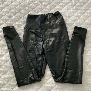 Vici Style Note Faux Leather Leggings
